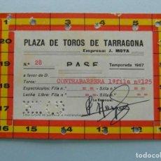 Tauromaquia: PASE PLAZA DE TOROS DE TARRAGONA. 1967. FIRMADO POR JOSE MOYA. Lote 115078235