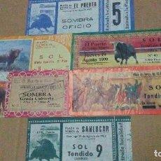 Tauromaquia: 6 ENTRADAS DE TOROS DE DISTINTOS AÑOS, 88, 89, 80, 91, 99. Lote 115253411
