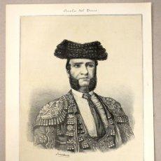 Tauromaquia: LITOGRAFIA JOSE RODRIGUEZ (PEPETE). CIRCA 1900. ANALES DEL TOREO. Lote 115784436