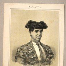 Tauromaquia: LITOGRAFIA MANUEL FUENTES (BOCANEGRA). CIRCA 1900. ANALES DEL TOREO. Lote 115788443
