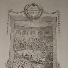 Tauromaquia: GRABADO S.XVIII. CORRIDA DE TOROS.A SPANISH BULL FIGHT. ILLUSTRATION FOR MIDDLETON'S COMPLETE SYSTEM. Lote 115799987
