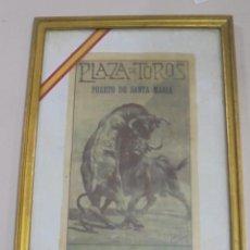 Tauromaquia: PLAZA DE TOROS DEL PUERTO SANTA MARIA. 1922. SANCHEZ, MEJIAS Y MAERA. 28 X 43CM. Lote 116080835
