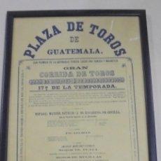 Tauromaquia: PLAZA DE TOROS DE GUATEMALA. 1884. MANUEL AGUILAR, EL MACARENO DE SEVILLA. 30 X 42CM. Lote 116081147