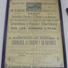 Tauromaquia: PLAZA DE TOROS DE CADIZ. 1929. CHARLOTS, EL CHISPA Y SUS BOTONES. POPULAR CHARLOTADA. VER. Lote 116081599