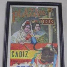 Tauromaquia: PLAZA DE TOROS DE CADIZ. 1929. CHICUELO, GITANILLO DE TRIANA Y BARRERA. 22 X 48CM. Lote 116084979