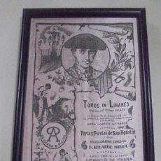 Tauromaquia: PLAZA DE TOROS DE LINARES. SEDA. MUERTE DE MANOLETE. GITANILLO DE TRIANA, MANOLETE Y DOMINGUIN. VER . Lote 116085639