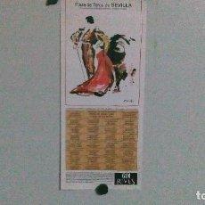 Tauromaquia: CARTEL DE LA PLAZA DE TOROS DE SEVILLA DEL AÑO 1995. Lote 116502951