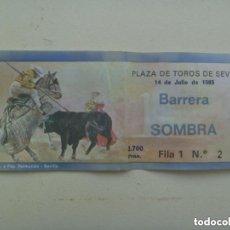 Tauromaquia: ENTRADA PLAZA DE TOROS DE SEVILLA , BARRERA SOMBRA . 1985.. Lote 116520431