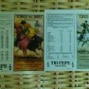 Tauromaquia: 4 CARTELES DE MANO DE LA PLAZA DE TOROS DE JEREZ, AÑOS 87 ,91 , 92 , 95 NO ESTÁN DOBLADOS. Lote 116535639