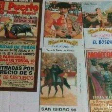 Tauromaquia: 5 LIBRILLOS DE MANO, DE MADRID, PUERTO DE SANTA MARÍA Y MONTORO. Lote 116677639