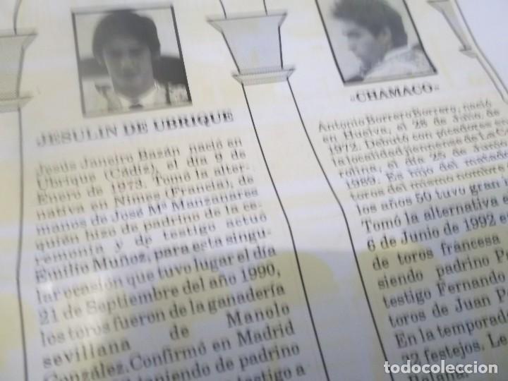 Tauromaquia: CARTEL DE TORO - FERIA DE ABRIL 1994 - SEVILLA, LITRI, JESULIN DE UBRIQUE Y CHAMACO - Foto 3 - 116845935
