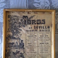 Tauromaquia: ANTIGUO CARTEL DE TOROS EN SEDA FERIA DE ABRIL 1968. Lote 117557491