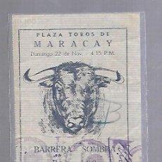 Tauromaquia: ENTRADA DE TOROS. PLAZA DE MARACAY. VENEZUELA. BARRERA SOMBRA. VER DORSO. Lote 117605763