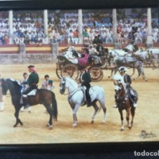 Tauromaquia: FOTO DE REJONEO EN RONDA. PERALTA, DOMECQ Y MOURA. DE M. MARTIN 1986. Lote 118477875