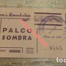 Tauromaquia: ALMENDRALEJO,BADAJOZ,1947,ENTRADA DE TOROS, UNA JOYA. Lote 121577199