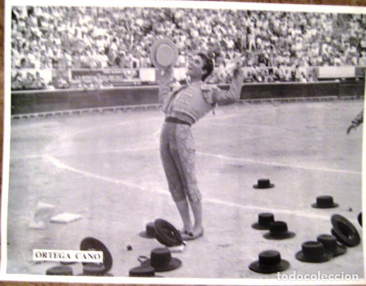 FOTOGRAFÍA DE ORTEGA CANO- AÑOS 80- TAMAÑO GRANDE 40 X 30 (Coleccionismo - Tauromaquia)