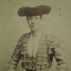 Tauromaquia: 1898 GUERRERITO. FOTOGRAFÍA DEL TORERO ANTONIO GUERRERO. ALBÚMINA. TOROS, TOREROS. Lote 114588127