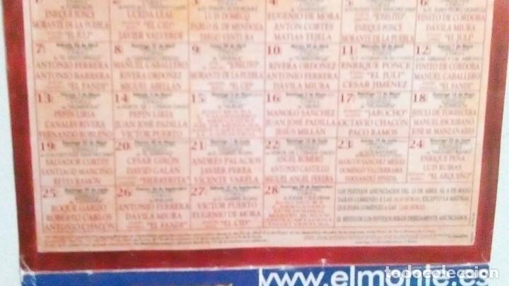 Tauromaquia: Cartel de Sevilla, abono del año 2003, mide 48,5 x 21,5 cm - Foto 2 - 122341283