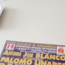 Tauromaquia: CAJ-B15FG CARTEL DE TOROS PLAZA DE TOROS SAN FERNANDO BLANCO LINARES BENJAMIN. Lote 124456307