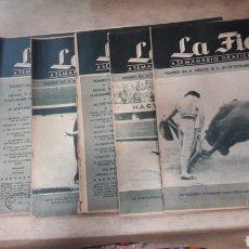 Tauromaquia: LOTE 7 REVISTAS TOROS LA FIESTA 1947. Lote 126852942