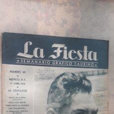 Tauromaquia: REVISTA LA FIESTA 1945. Lote 126995443