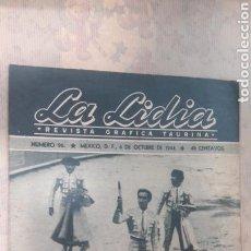Tauromaquia: REVISTA LA LIDIA OCTUBRE 1944. Lote 126996232
