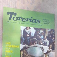 Tauromaquia: REVISTA TORERIAS 1972 INCLUYE PÓSTER DE EL CORDOBÉS. Lote 127002334
