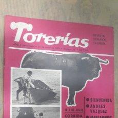 Tauromaquia: REVISTA TORERIAS 1972 INCLUYE PÓSTER DE MARIO CABRE ESTEVE. Lote 127002628