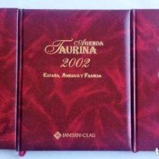 Tauromaquia: AGENDAS TAURINAS 2001-2002-2003 JANSSEN-CILAG. SIN USO. NUEVAS. TAPAS DE CUERO. EXCELENTE DISEÑO.. Lote 128308815