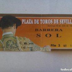 Tauromaquia: ENTRADA PLAZA DE TOROS DE SEVILLA , BARRERA SOL . 1993.. Lote 128505019