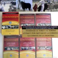 Tauromaquia: LA TAUROMAQUIA - DVDS JOAQUÍN JESÚS GORDILLO TVE HISTORIA TOROS TOREO TOREROS CORRIDAS DVD PROGRAMAS. Lote 128599043