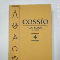 Tauromaquia: ENCICLOPEDIA COSSÍO: LOS TOROS, TOMO IV 4: EL TOREO. ESPASA. TDK350. Lote 128655647