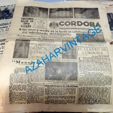 Tauromaquia: DIARIO CORDOBA, FALANGE, 30 DE AGOSTO DE 1947, MUERTE DE MANOLETE, RARO. Lote 128874435