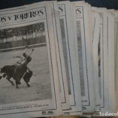 Tauromaquia: LOTE DE 31 REVISTAS TOROS Y TAUROMAQUIA 1916 1917. Lote 129069483