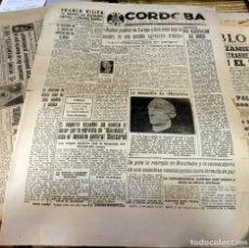 Tauromaquia: DIARIO CORDOBA, FALANGE, 3 DE SEPTIEMBRE DE 1947,FUNERALES POR MANOLETE, RARO, 4 PAGINAS. Lote 129096515