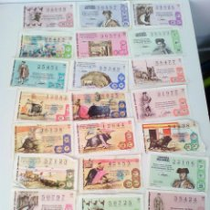 Tauromaquia: LOTE DE 24 DECIMOS DE LOTERÍA SERIE TAUROMAQUIA AÑO 1971. Lote 129961955