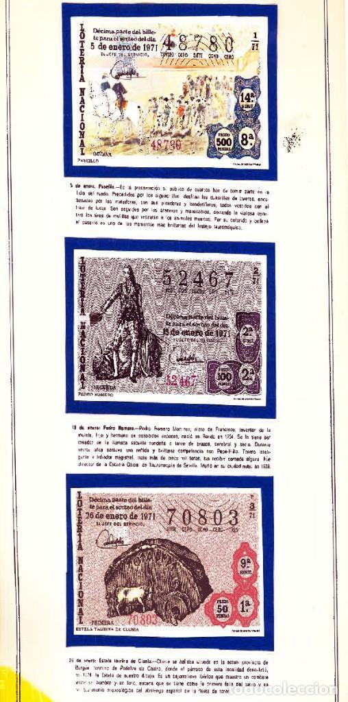 Tauromaquia: 1971.- COLECCION CTA. CON LOS 40 DECIMOS TEMA LA TAUROMAQUIA. CON DESCRIPCIONES DE LOS TEMAS. - Foto 3 - 130991972