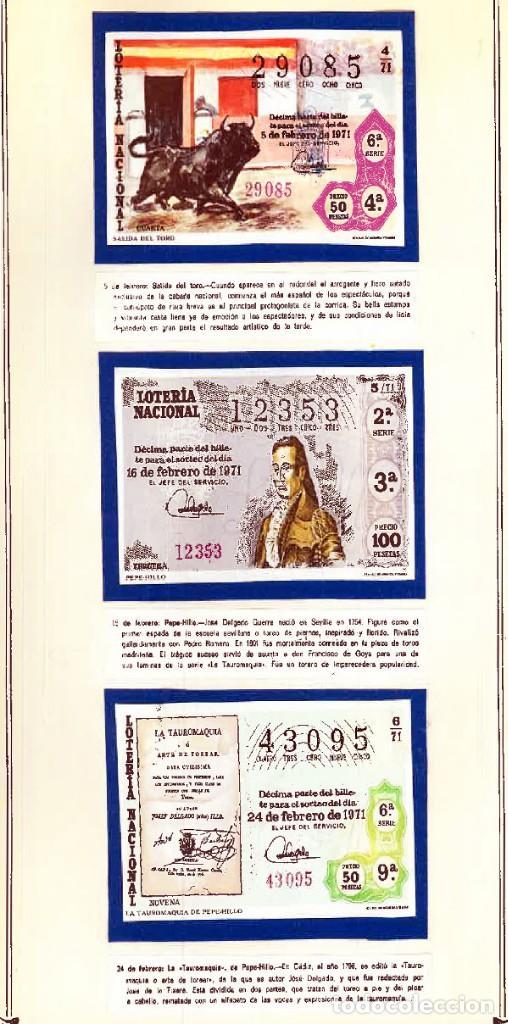 Tauromaquia: 1971.- COLECCION CTA. CON LOS 40 DECIMOS TEMA LA TAUROMAQUIA. CON DESCRIPCIONES DE LOS TEMAS. - Foto 4 - 130991972