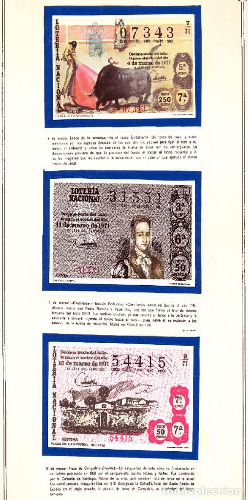 Tauromaquia: 1971.- COLECCION CTA. CON LOS 40 DECIMOS TEMA LA TAUROMAQUIA. CON DESCRIPCIONES DE LOS TEMAS. - Foto 5 - 130991972