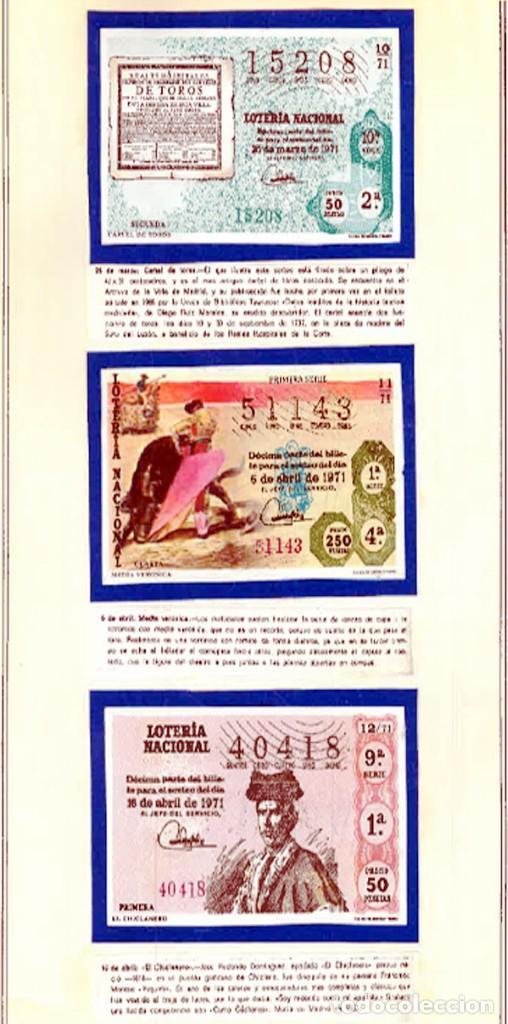 Tauromaquia: 1971.- COLECCION CTA. CON LOS 40 DECIMOS TEMA LA TAUROMAQUIA. CON DESCRIPCIONES DE LOS TEMAS. - Foto 6 - 130991972