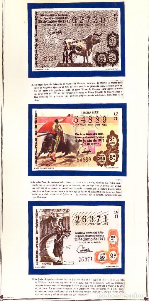 Tauromaquia: 1971.- COLECCION CTA. CON LOS 40 DECIMOS TEMA LA TAUROMAQUIA. CON DESCRIPCIONES DE LOS TEMAS. - Foto 8 - 130991972