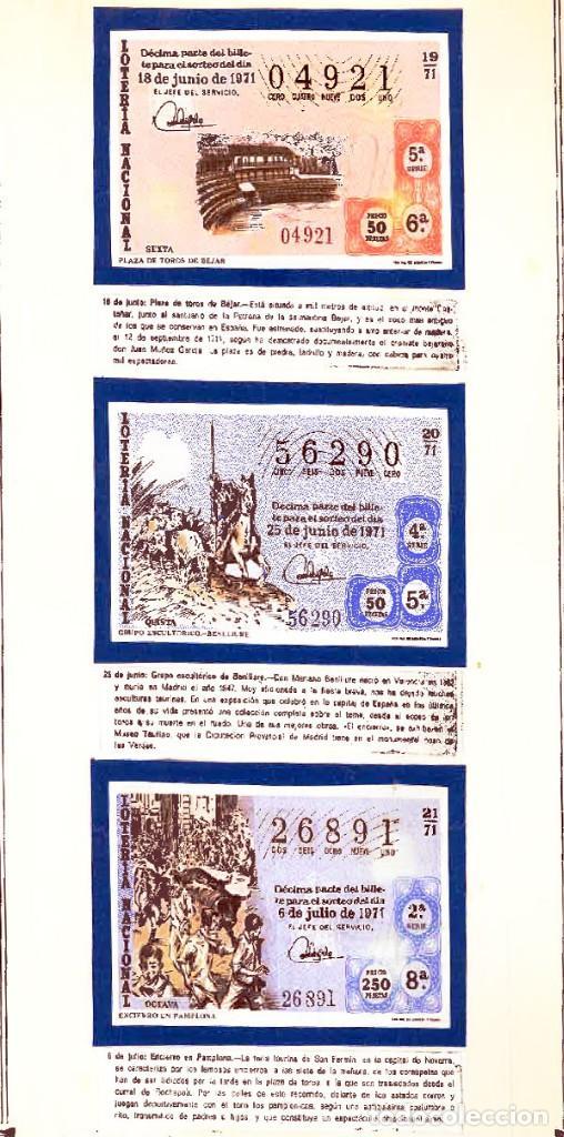 Tauromaquia: 1971.- COLECCION CTA. CON LOS 40 DECIMOS TEMA LA TAUROMAQUIA. CON DESCRIPCIONES DE LOS TEMAS. - Foto 9 - 130991972