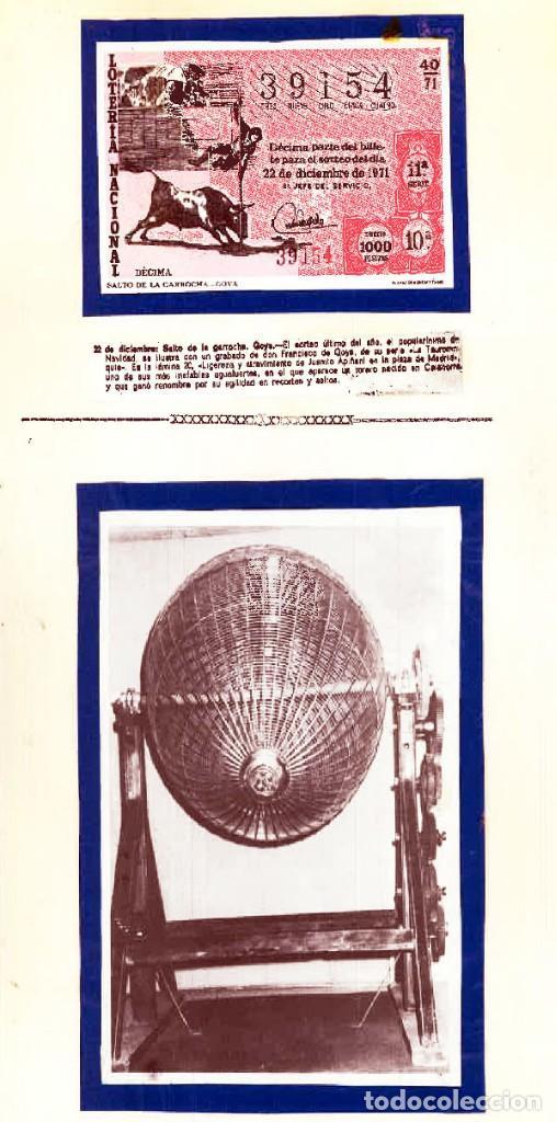 Tauromaquia: 1971.- COLECCION CTA. CON LOS 40 DECIMOS TEMA LA TAUROMAQUIA. CON DESCRIPCIONES DE LOS TEMAS. - Foto 16 - 130991972