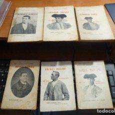 Tauromaquia: 9 LIBROS DE BIOGRAFIAS DE TOREROS DE LA BIBLIOTECA SOL Y SOMBRA, LEER DESCRIPCION. Lote 131139128