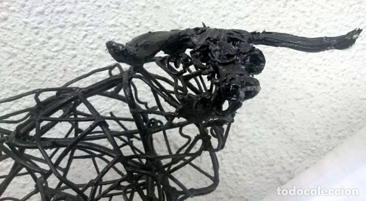 Tauromaquia: Espectacular escultura de hierro, toro bravo. Escultor Boni Guarjol, escultor Aragonés. 60x35x30cm - Foto 5 - 125096691