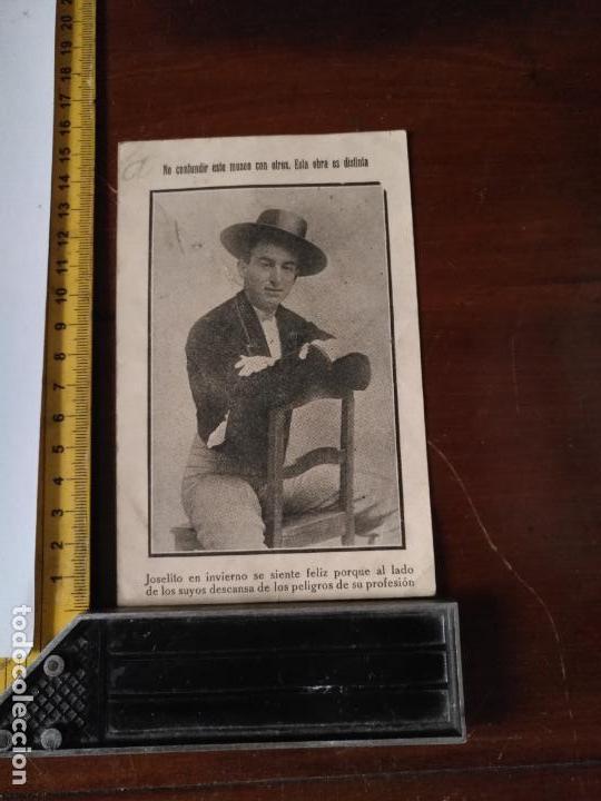 TARJETA POSTAL MUSEO TAURINO PORTADA JOSELITO EL GALLO , CABEZA TORO BAILAOR QUE QUITO LA VIDA (Coleccionismo - Tauromaquia)