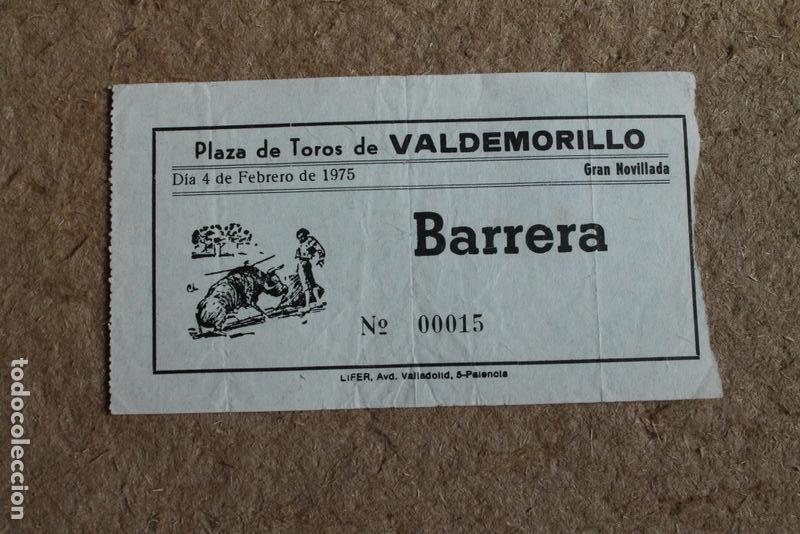 Entrada. Plaza de Toros de Valdemorillo. 4 de febrero de 1975. Novillada. segunda mano