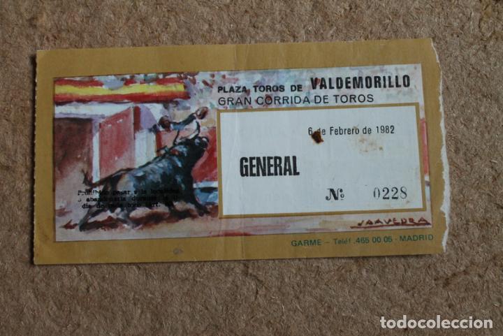 Entrada. Plaza de Toros de Valdemorillo. 6 de febrero de 1982. Corrida de toros., usado segunda mano