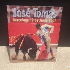 Tauromaquia: TAUROMAQUIA...FOTO CARTFL DE JOSÉ TOMÁS...2007......... Lote 134286294