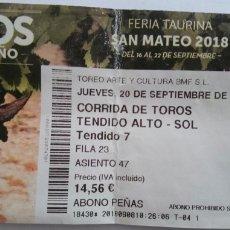 Tauromaquia: ENTRADA PLAZA DE TOROS DE LOGROÑO. Lote 134286847